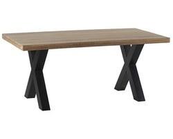 TABLE À DÎNER PIEDS CROIX MÉTAL - CLETA180
