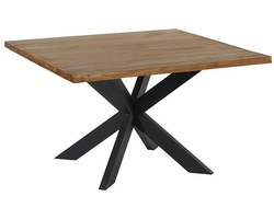 TABLE CARRÉE TECK MASSIF NATUREL - TULTAC130