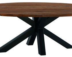TABLE OVALE TECK MASSIF - BAITA230