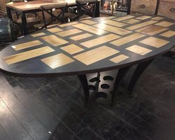 TABLE OVALE INDUSTRIELLE L230