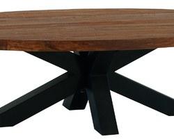 TABLE BASSE OVALE TECK MASSIF - BAITABA137