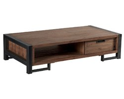 TABLE BASSE 2 TIROIRS - WALTABA100
