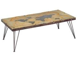 TABLE BASSE MAPPEMONDE - WORTABA140