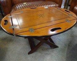 TABLE BASSE PLIANTE EN MERISIER