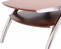 TABLE BASSE QUAD INOX ET BOIS - IXTBB49
