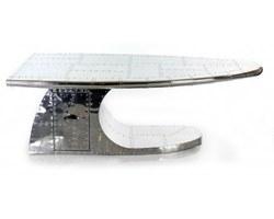 TABLE BASSE ALU AVEC TIROIR - ALUTBB06
