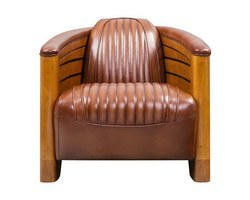 FAUTEUIL CLUB PIROGUE CUIR VINTAGE - CL43V02