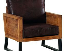 FAUTEUIL STRUCTURE TECK MASSIF - DUNFA1