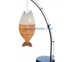 LAMPE CANNE À PÊCHE AVEC POISSON