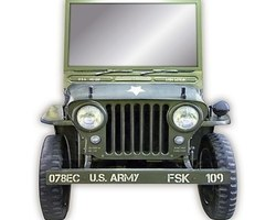 MIROIR JEEP US ARMY