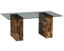 TABLE PIEDS TECK - FORETA12