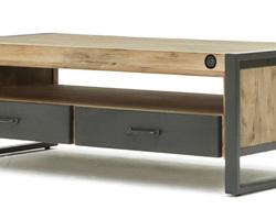 TABLE BASSE ACACIA METAL - LOFTL06