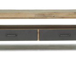TABLE BASSE ACACIA METAL - LOFTL06