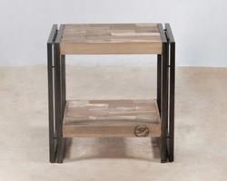 TABLE DE CHEVET EN BOIS DE BATEAUX RECYCLÉS - SM33001
